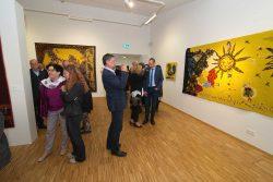 """Blick in die Ausstellung zur Vernissage / © ADAGP, Kunstverein """"Talstrasse"""", 2016"""