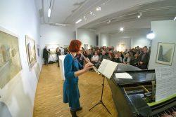 Karoline Schulz (Flöte) zur Vernissage der Ausstellung
