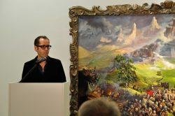 Vernissage der Ausstellung, Roger Diederen im Vortrag