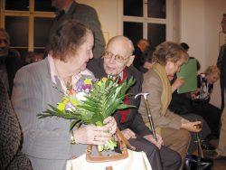 Werner Tübke und Gattin in seiner Ausstellung zur Vernissage