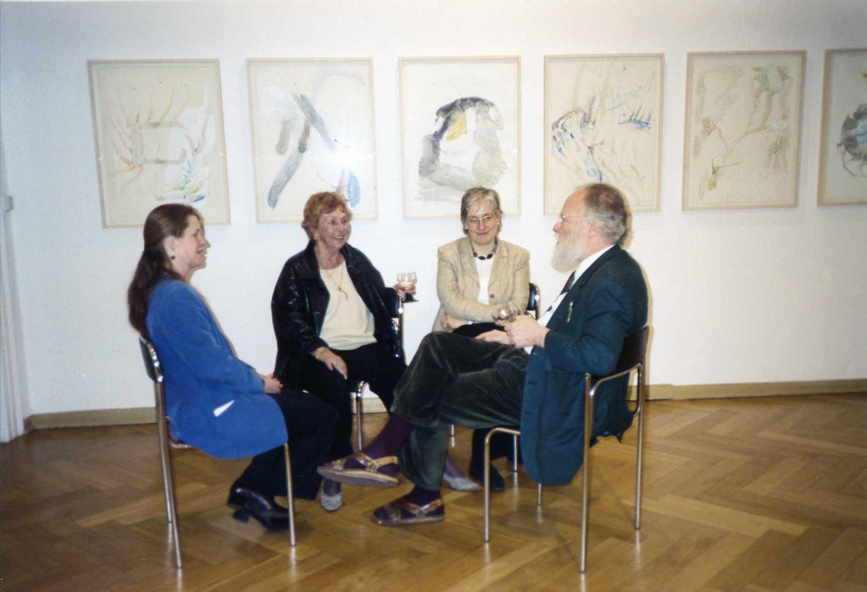 Dr. Dorit Litt, Margit Hoehme, Dr. Katja Schneider und der Sammler Franz Armin Morat