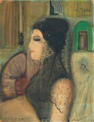 """Erwin Hahs """"Malaga"""", 1928, Aquarell auf Papier / © Nachlass E. Hahs"""