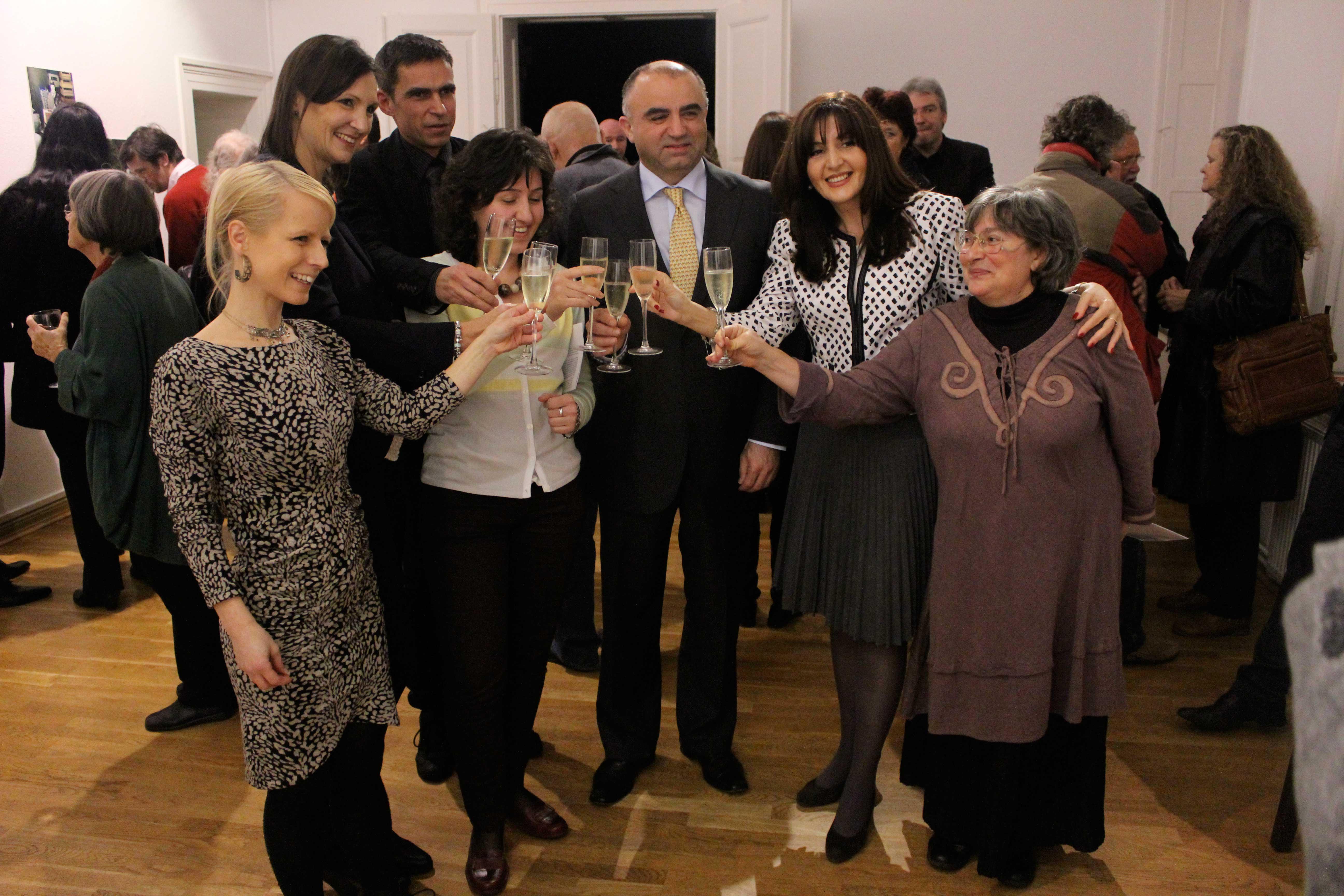 Vernissage mit dem Botschafter Armeniens