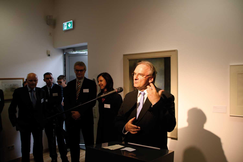 Ministerpräsident Reiner Haseloff zur Vernissage