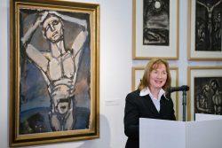 Frau Dr. Judith Marquardt, Beigeordnete für Kultur und Sport zur Vernissage