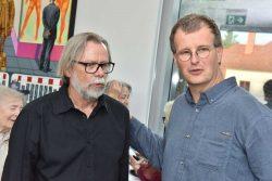 Uwe Pfeifer und der Galerist Klaus Hebecker