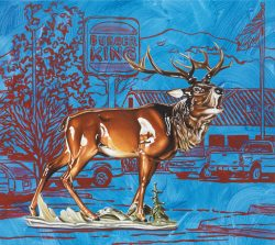 "Andreas Amrhein ""King"", 2011, Acryl auf Leinwand, C&K Galerie Berlin"