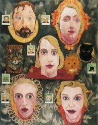 """Regina Götz """"Familienbildnis"""", 1988, Öl auf Leinwand, Sammlung Klewan"""