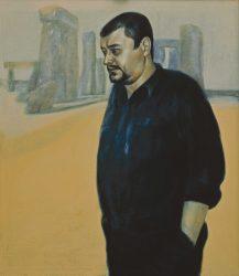 """Henri Deparade """"Der Lyriker Wilhelm Bartsch"""", 1989, Öl auf Leinwand"""